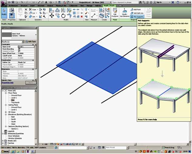 REVIT ARCHITECTURE (59) – CUBIERTAS (4) SELECCION ESTRUCTURA ...