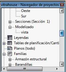 Navegador de proyectos- Modelizado