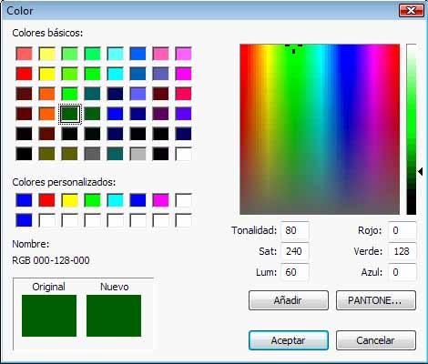 Cambio  de color de la línea horizontal del título de vista