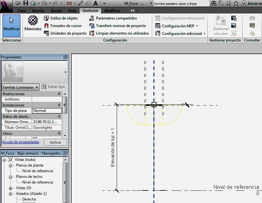 Realización de Línea de modelo en Alzado