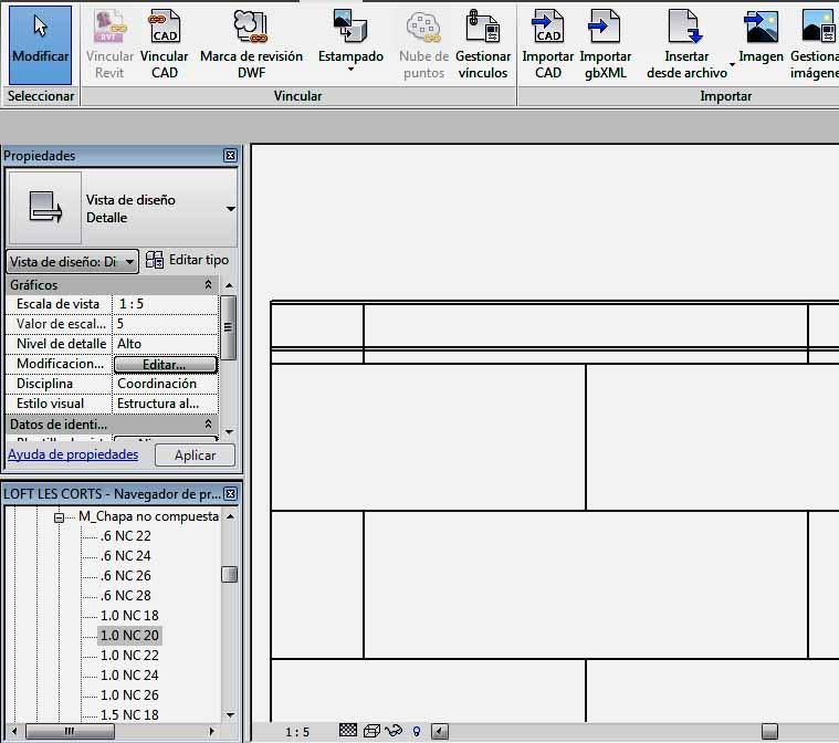 Opción de visualización Estructura alámbrica