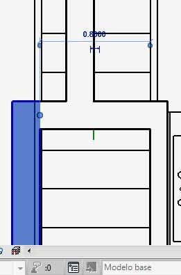 Cota temporal con línea de referencia sin desplazar