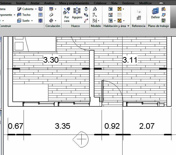 La actual línea de cotas inferior, es el resultado de aplicar la opción de Editar líneas de referencia a una única cota permanente