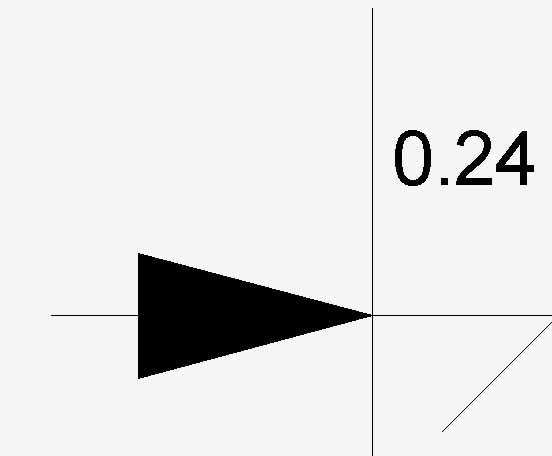 Longitud de línea de cota volteada