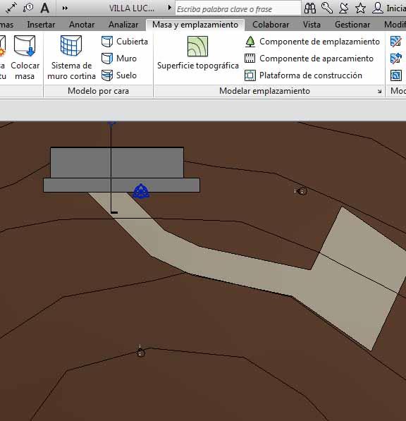 Creación de una Subregión para crear un camino exterior y una Plataforma de aparcamiento exterior