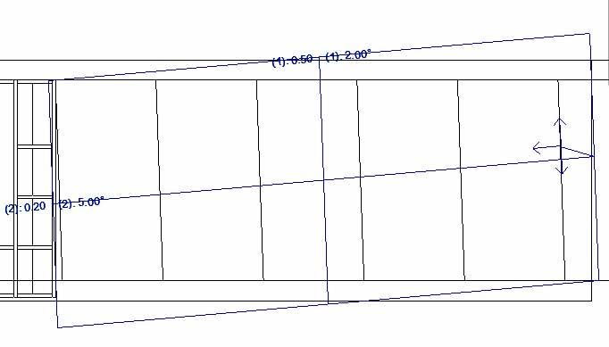 rejillas de muro cortina giradas por medio del parámetro Ángulo