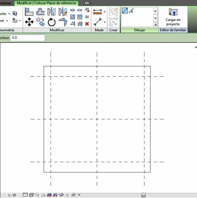 Planos de referencia Verticales y horizontales de hueco de ventana