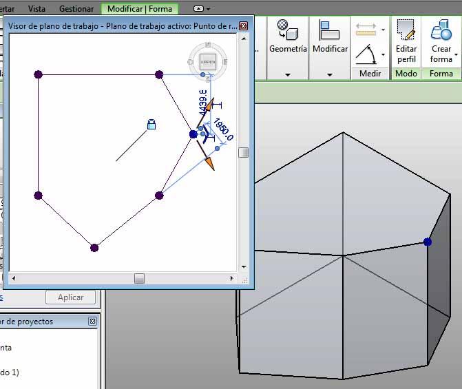 Modificación perímetro plano superior cuadrado