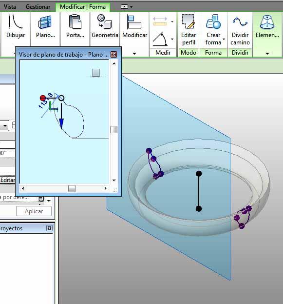 Modificación del perímetro del círculo que ha generado el toroide