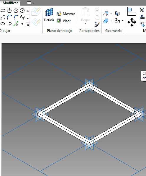 Componente de patrón creado a partir de malla cuadrada