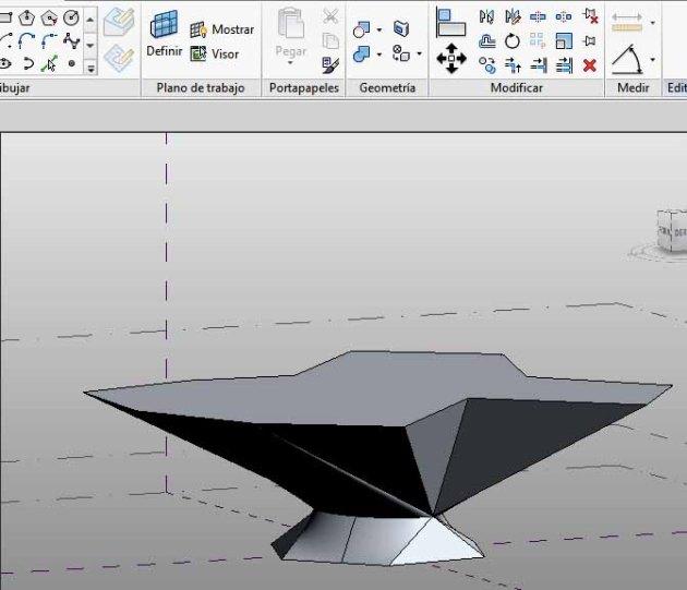 Forma a la que se va a añadir un Borde - 3D