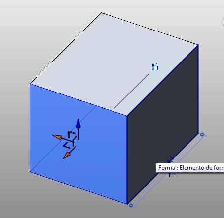 Cubo girado en plano horizontal 15º