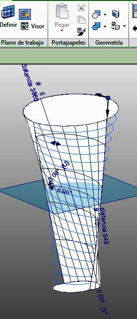 Desplazamiento de cinta a la parte superior derecha de la forma