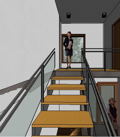 recorrido escalera