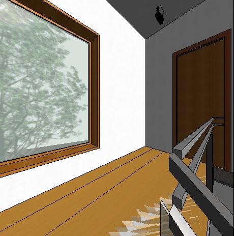 llegada a planta superior por escalera