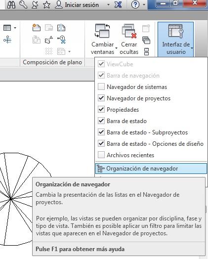 Organización de navegador