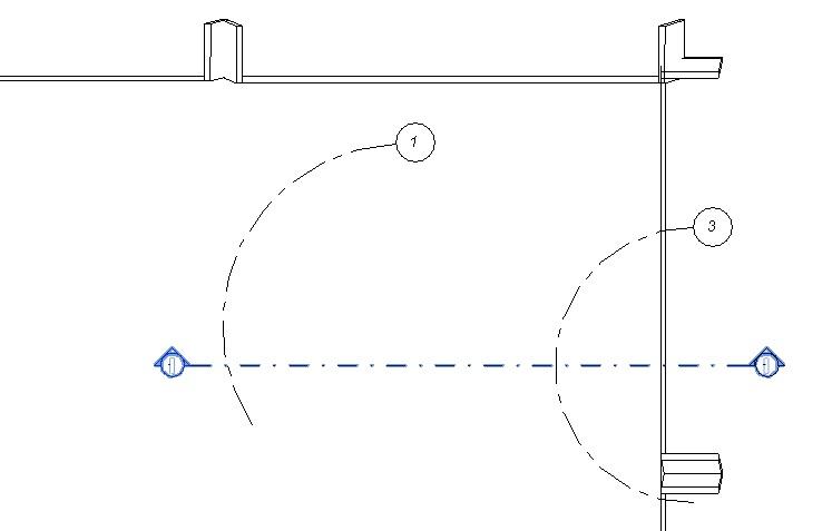 Rejillas en forma de arco que se encuentran con plano vertical del modelo de dos formas diferentes