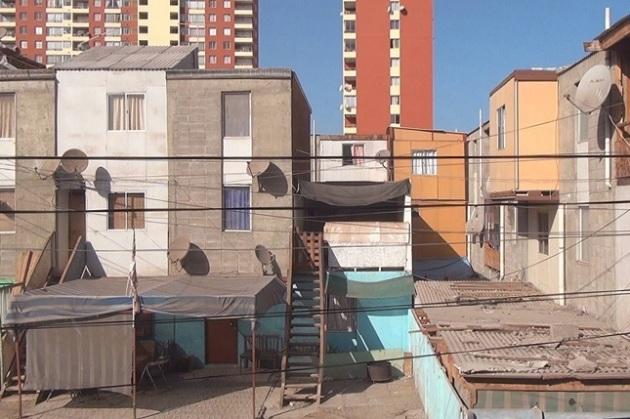 bidonville au nord du Chili